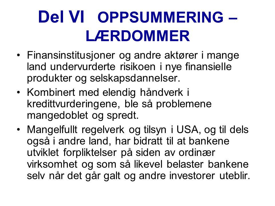Del VI OPPSUMMERING – LÆRDOMMER