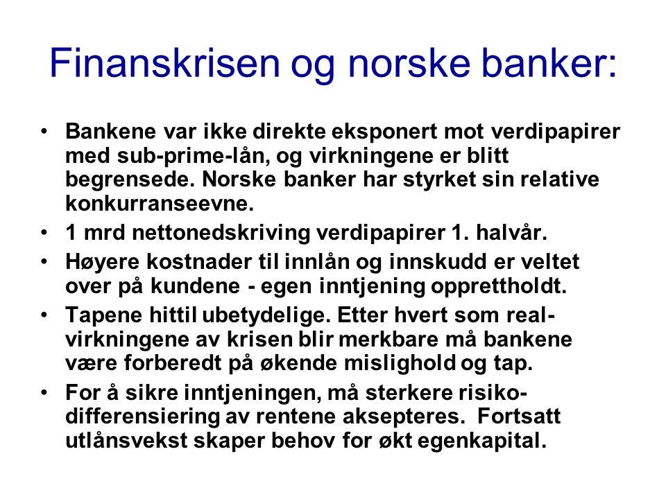 Finanskrisen og norske banker: