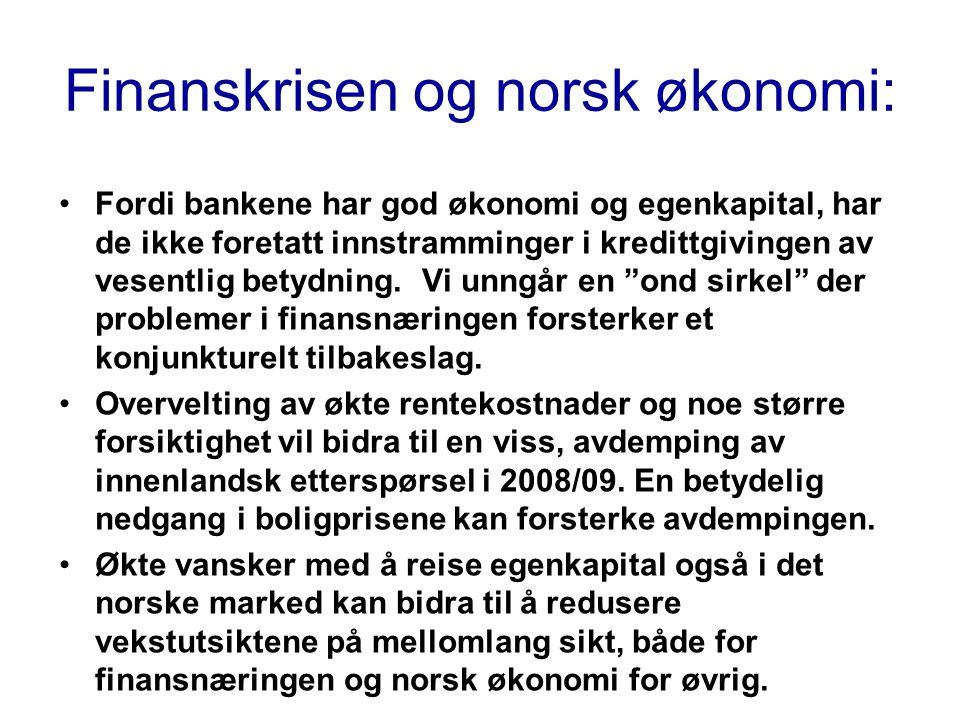 Finanskrisen og norsk økonomi: