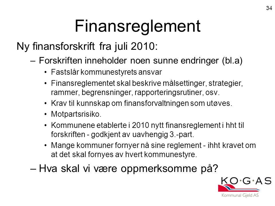 Finansreglement Ny finansforskrift fra juli 2010: