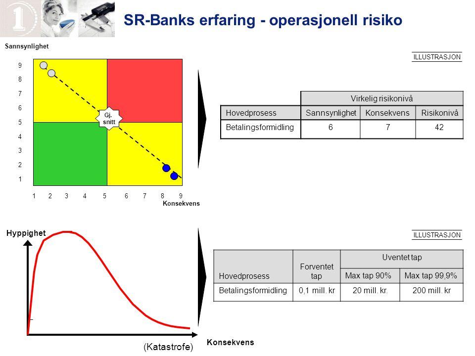 SR-Banks erfaring - operasjonell risiko