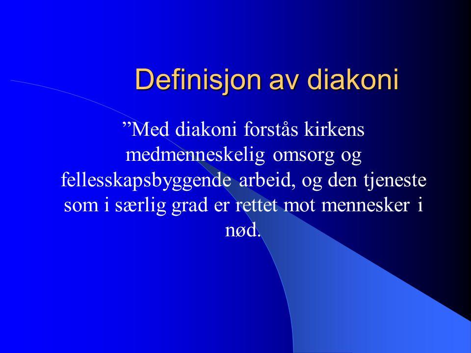 Definisjon av diakoni