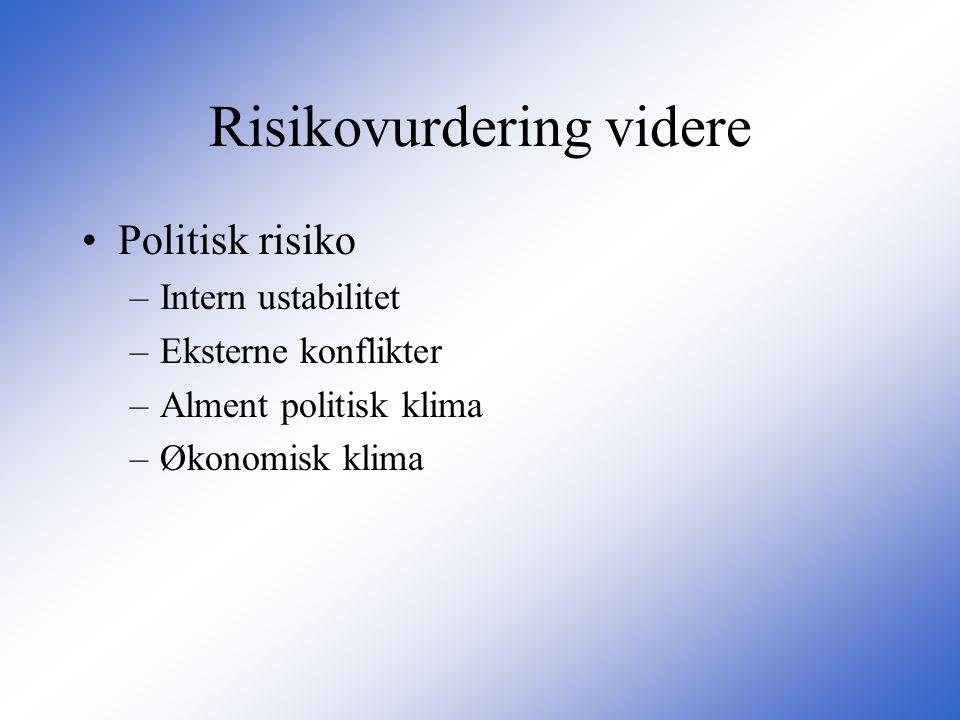 Risikovurdering videre