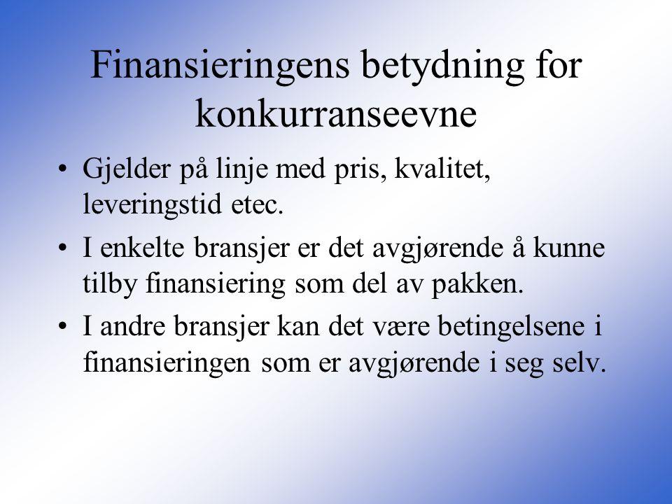 Finansieringens betydning for konkurranseevne