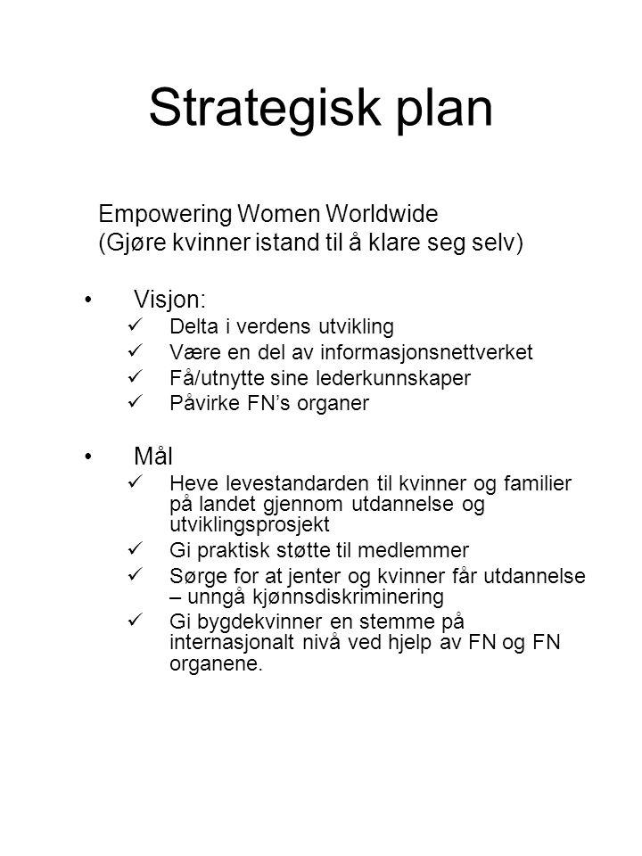 Strategisk plan Empowering Women Worldwide