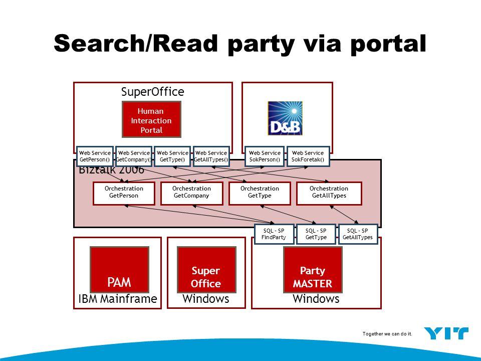 Search/Read party via portal