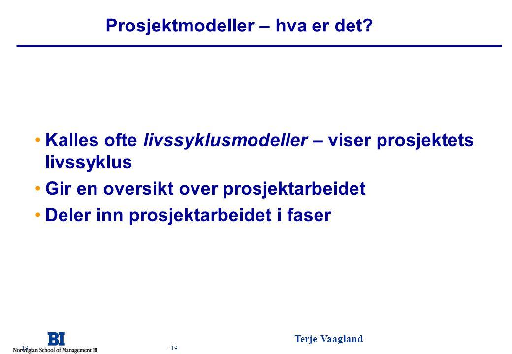 Prosjektmodeller – hva er det