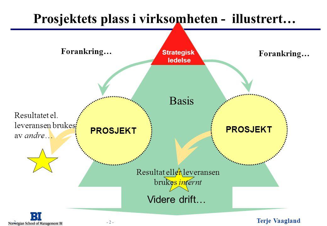 Prosjektets plass i virksomheten - illustrert…