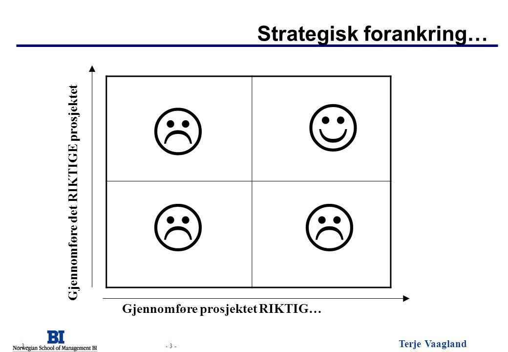 J L L L Strategisk forankring… Gjennomføre det RIKTIGE prosjektet