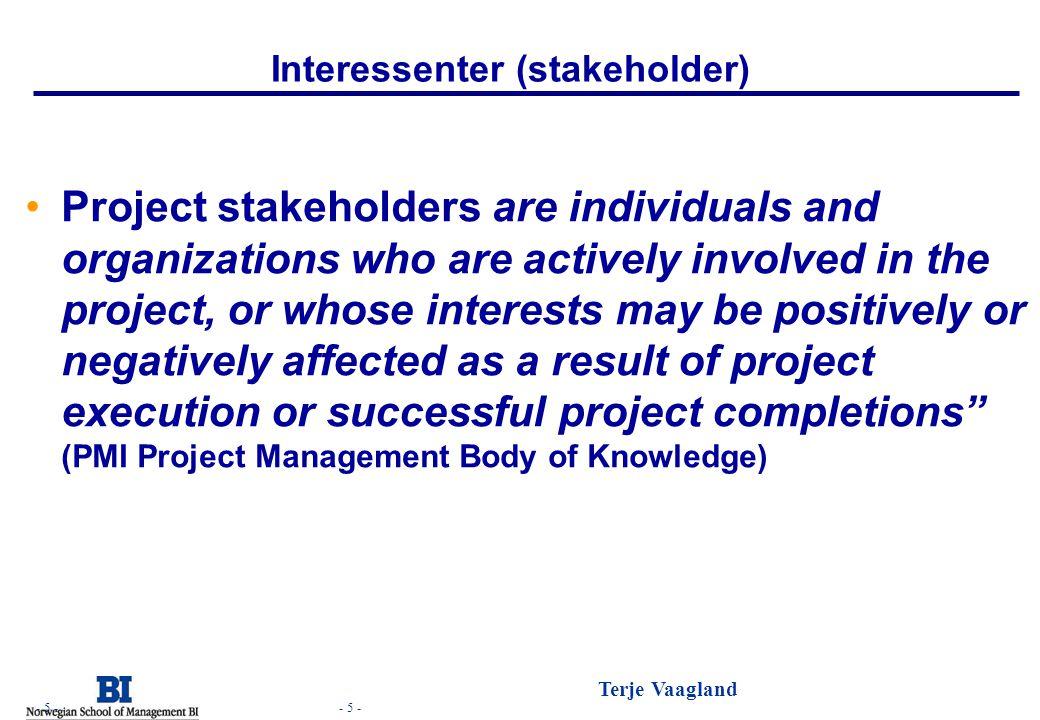 Interessenter (stakeholder)