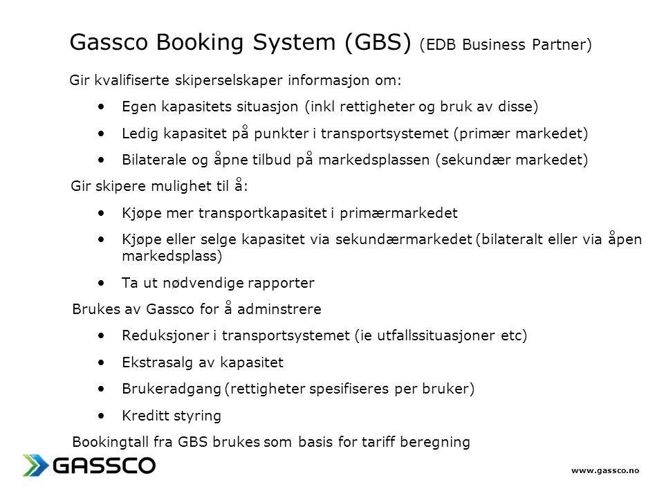 Gassco Booking System (GBS) (EDB Business Partner)
