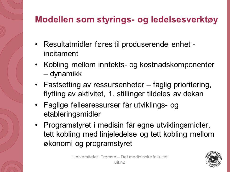Modellen som styrings- og ledelsesverktøy