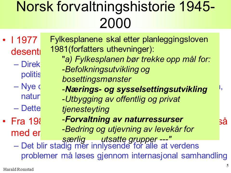 Norsk forvaltningshistorie 1945-2000