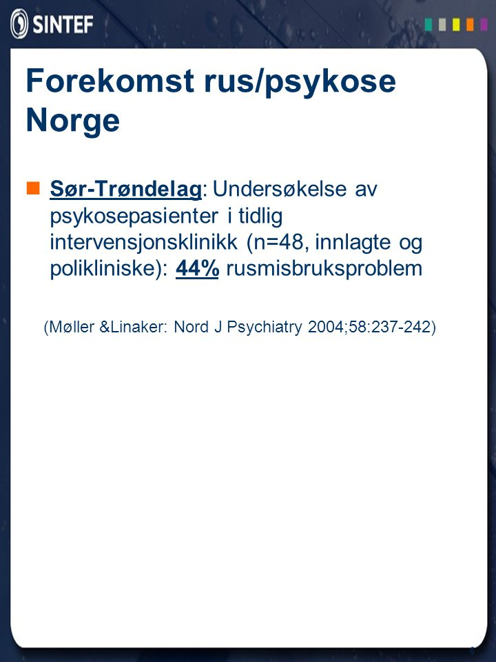 Forekomst rus/psykose Norge