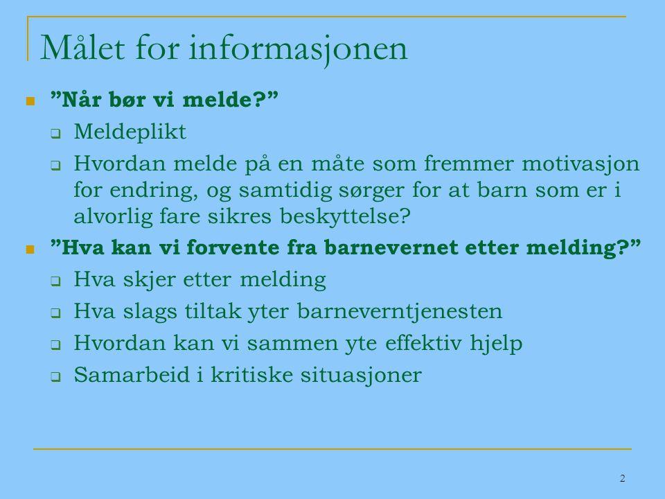 Målet for informasjonen