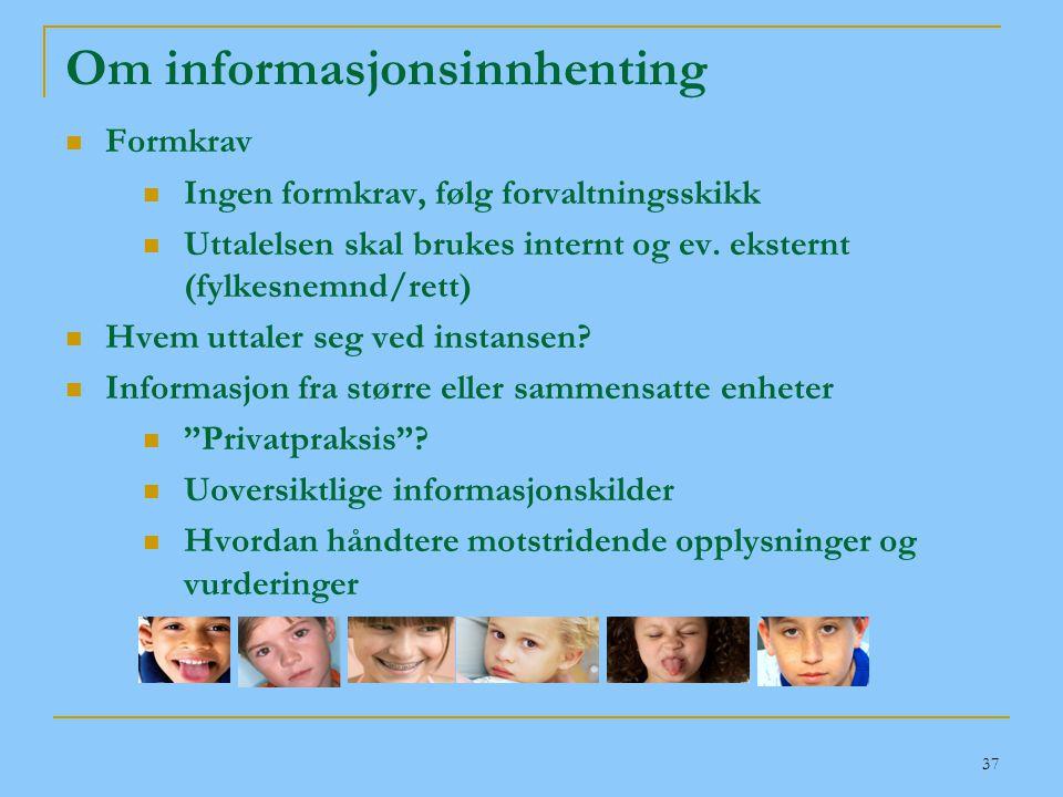 Om informasjonsinnhenting