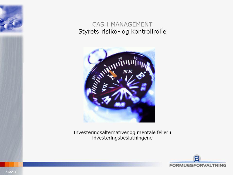 Investeringsalternativer og mentale feller i investeringsbeslutningene