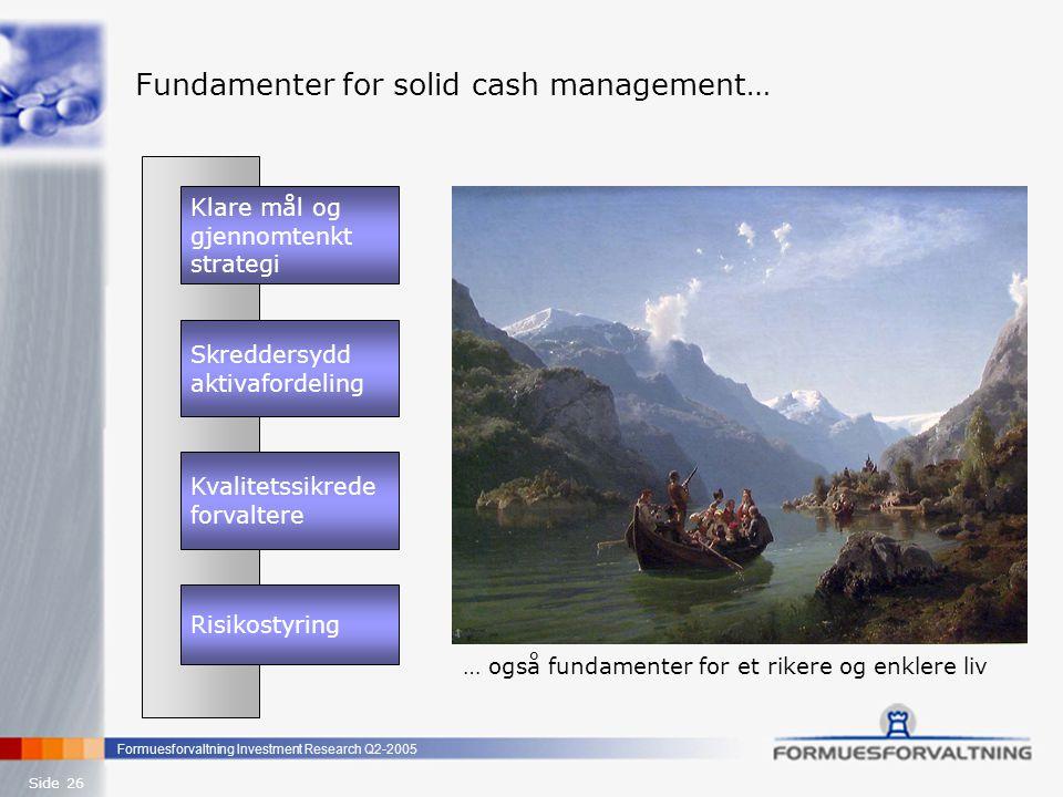 Fundamenter for solid cash management…