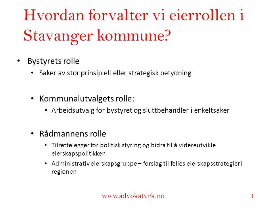 Hvordan forvalter vi eierrollen i Stavanger kommune
