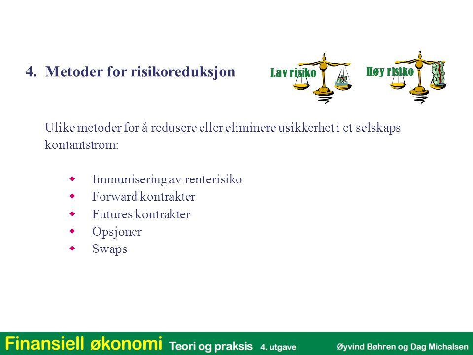 4. Metoder for risikoreduksjon