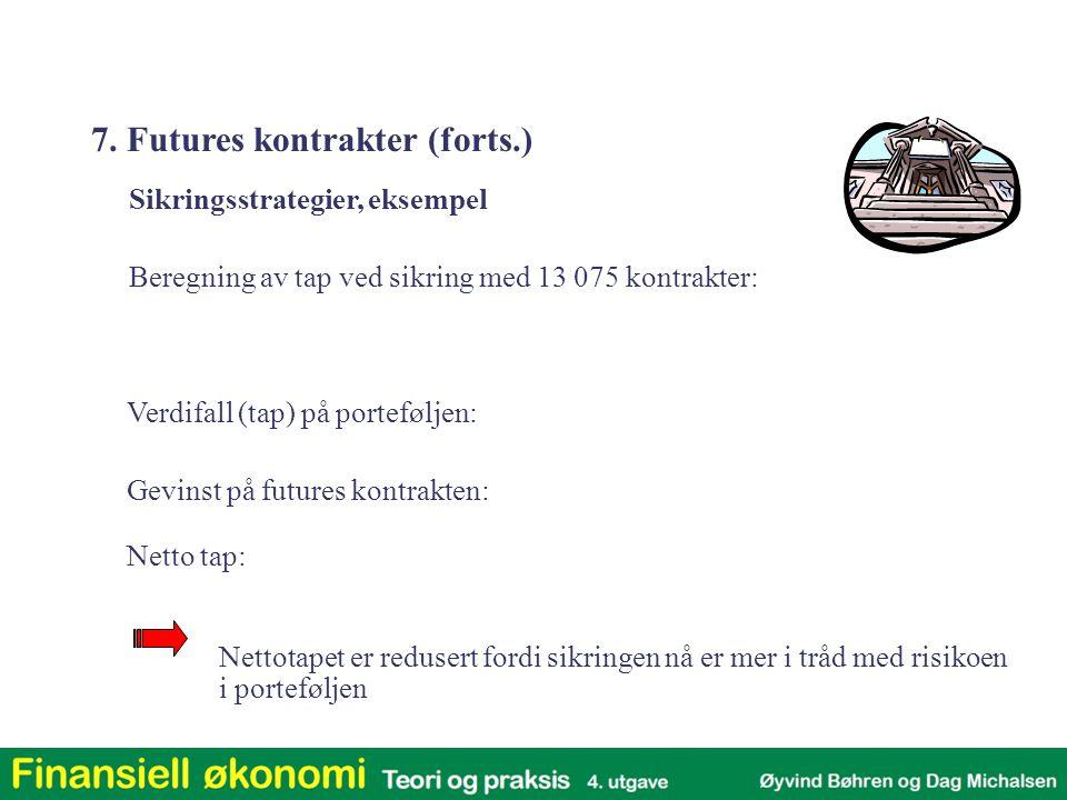 7. Futures kontrakter (forts.)