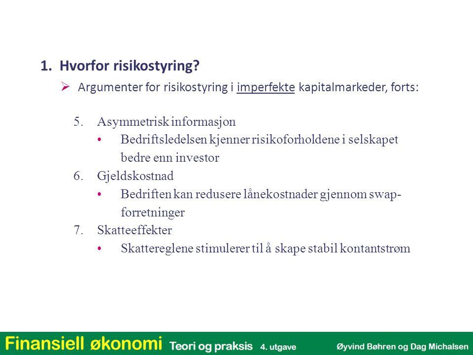 1. Hvorfor risikostyring