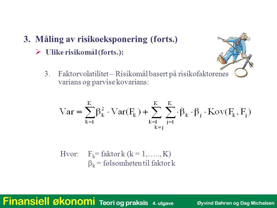 3. Måling av risikoeksponering (forts.)
