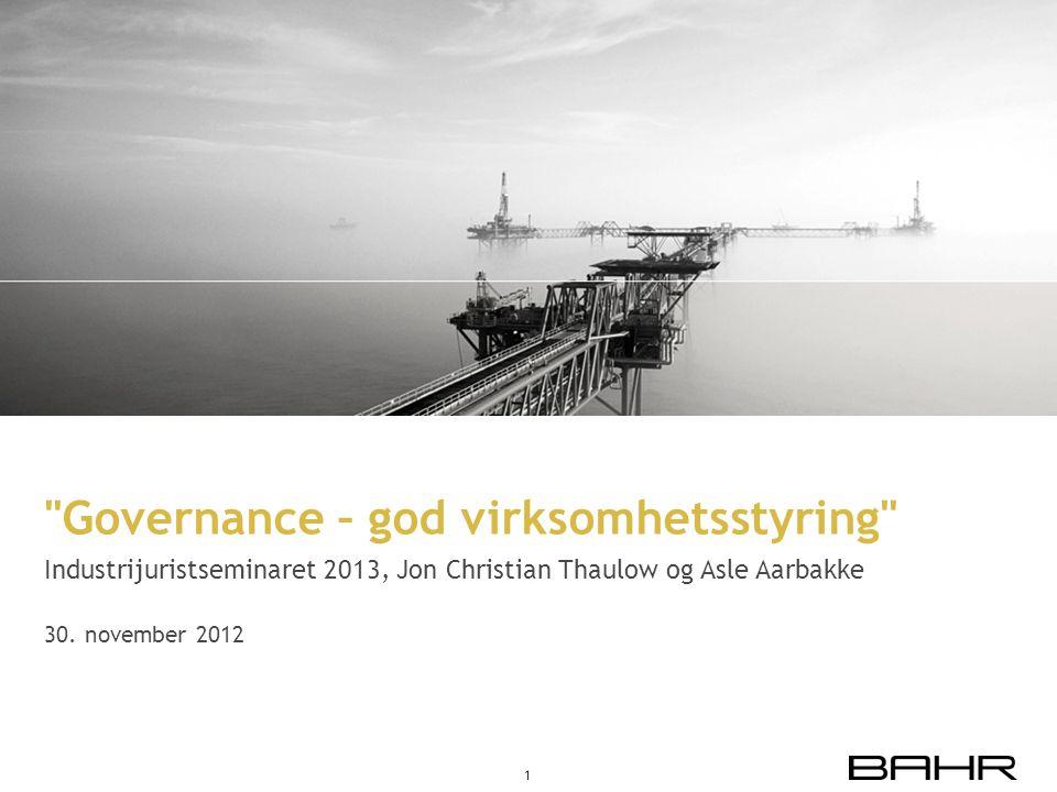 Governance – god virksomhetsstyring
