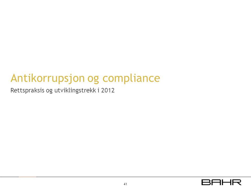 Antikorrupsjon og compliance