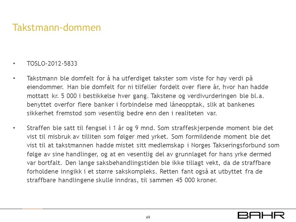 Takstmann-dommen TOSLO-2012-5833