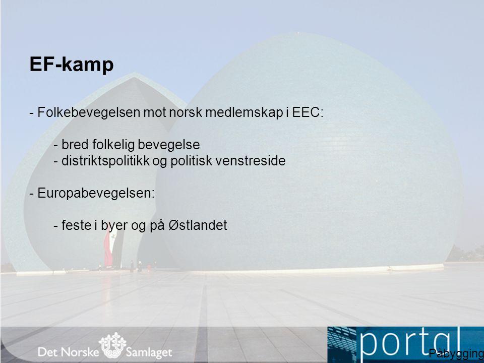 EF-kamp - Folkebevegelsen mot norsk medlemskap i EEC: