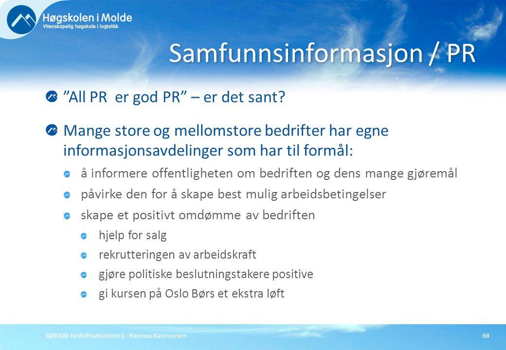 Samfunnsinformasjon / PR