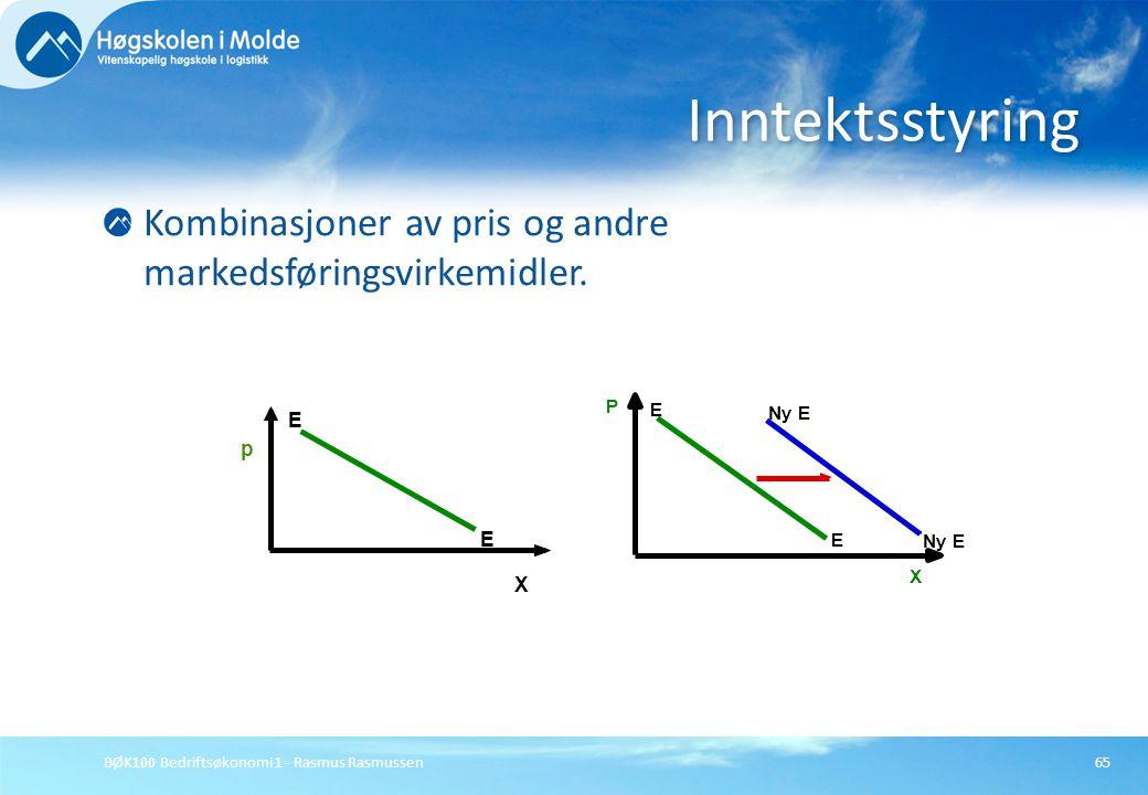 Inntektsstyring Kombinasjoner av pris og andre markedsføringsvirkemidler. Ny E. P. X. E. p. E.