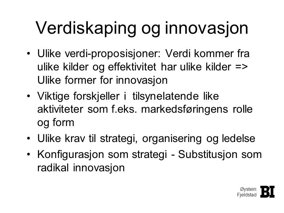 Verdiskaping og innovasjon