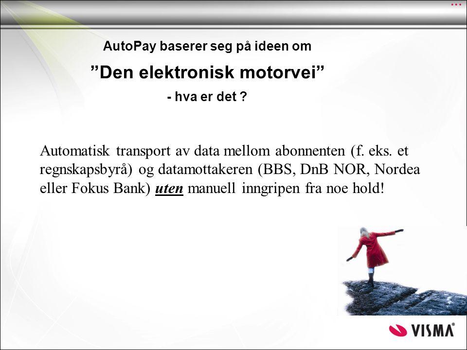 AutoPay baserer seg på ideen om Den elektronisk motorvei - hva er det