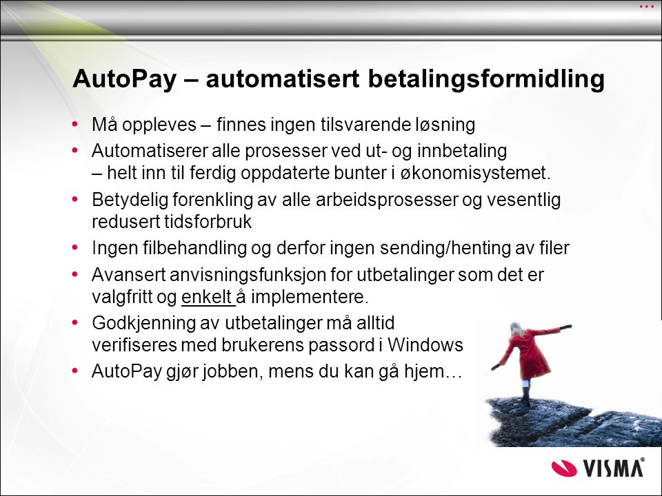 AutoPay – automatisert betalingsformidling