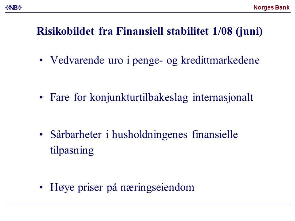 Risikobildet fra Finansiell stabilitet 1/08 (juni)