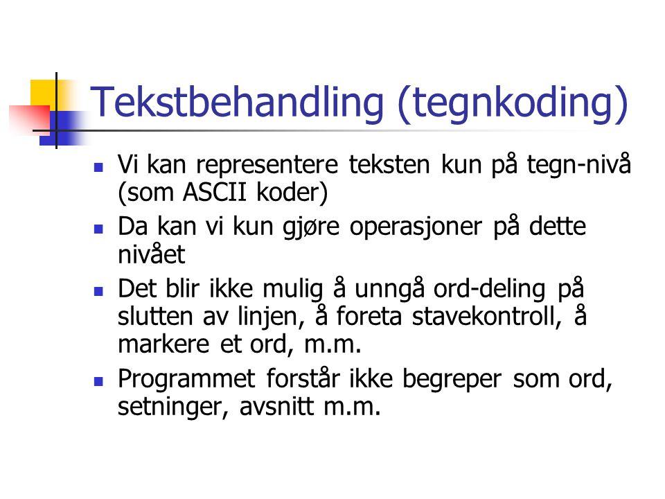 Tekstbehandling (tegnkoding)