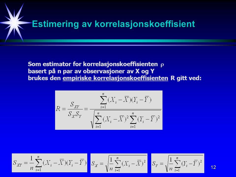 Estimering av korrelasjonskoeffisient