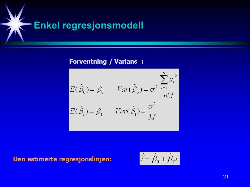 Enkel regresjonsmodell