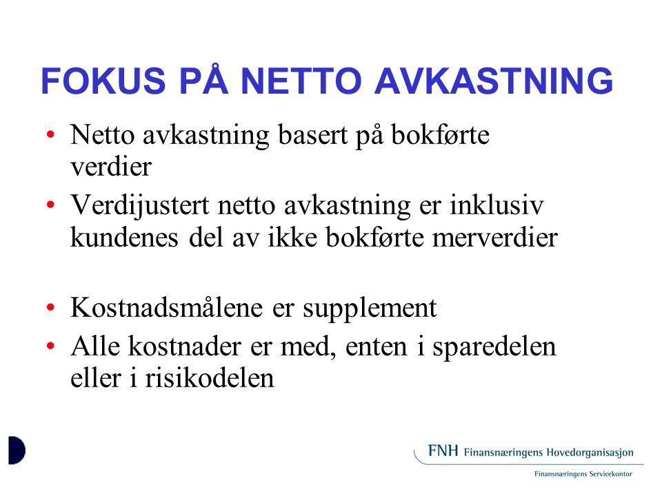 FOKUS PÅ NETTO AVKASTNING