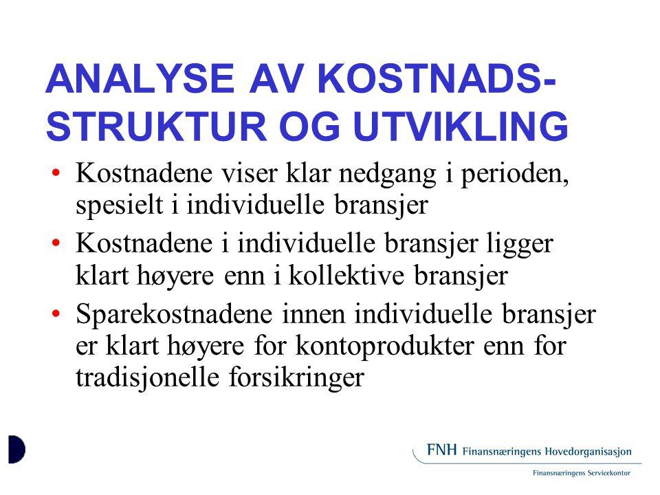 ANALYSE AV KOSTNADS-STRUKTUR OG UTVIKLING