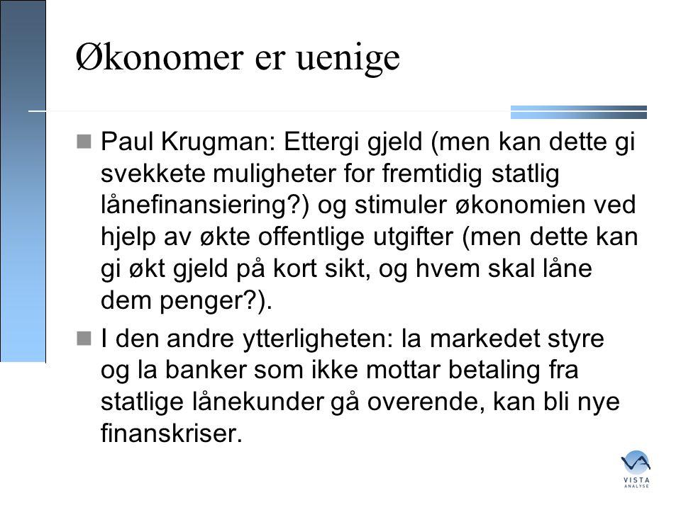 Økonomer er uenige