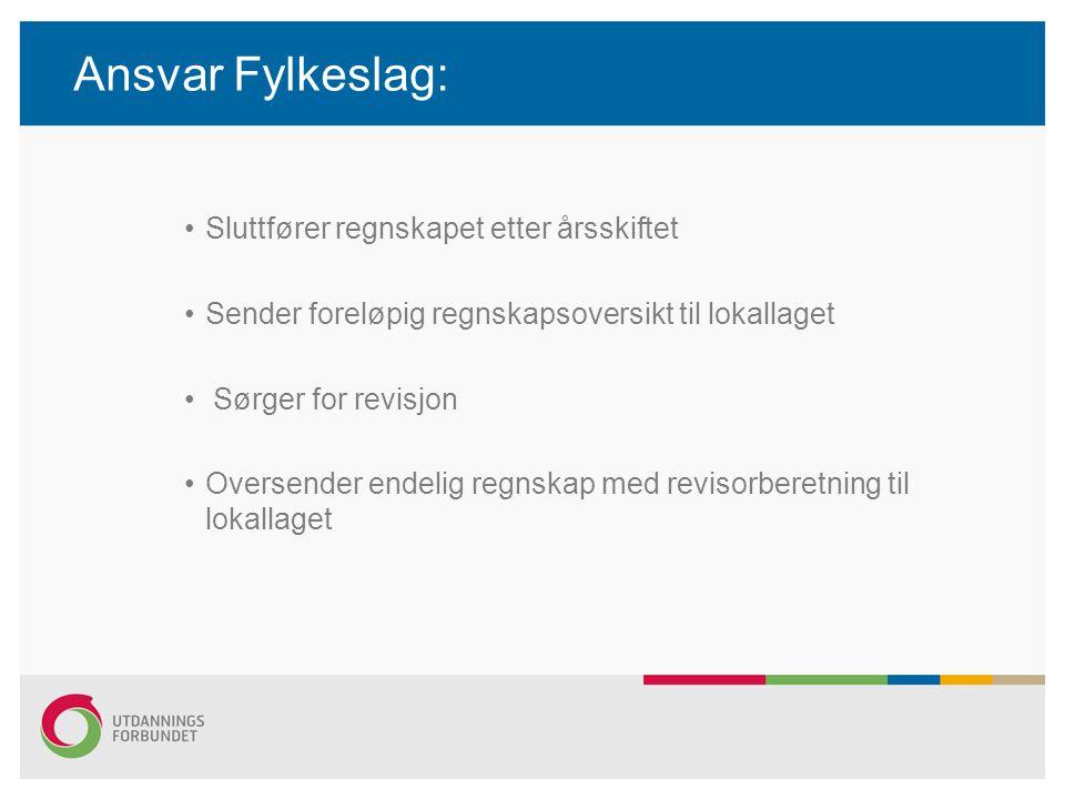 Ansvar Fylkeslag: Sluttfører regnskapet etter årsskiftet
