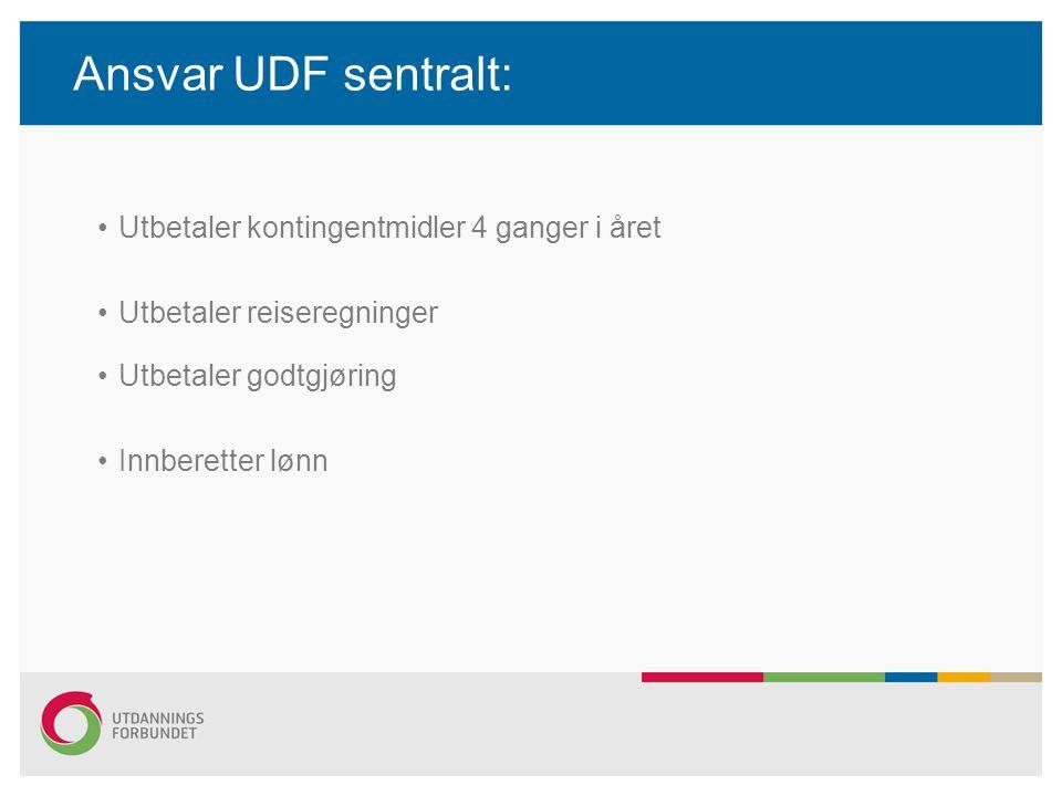 Ansvar UDF sentralt: Utbetaler kontingentmidler 4 ganger i året