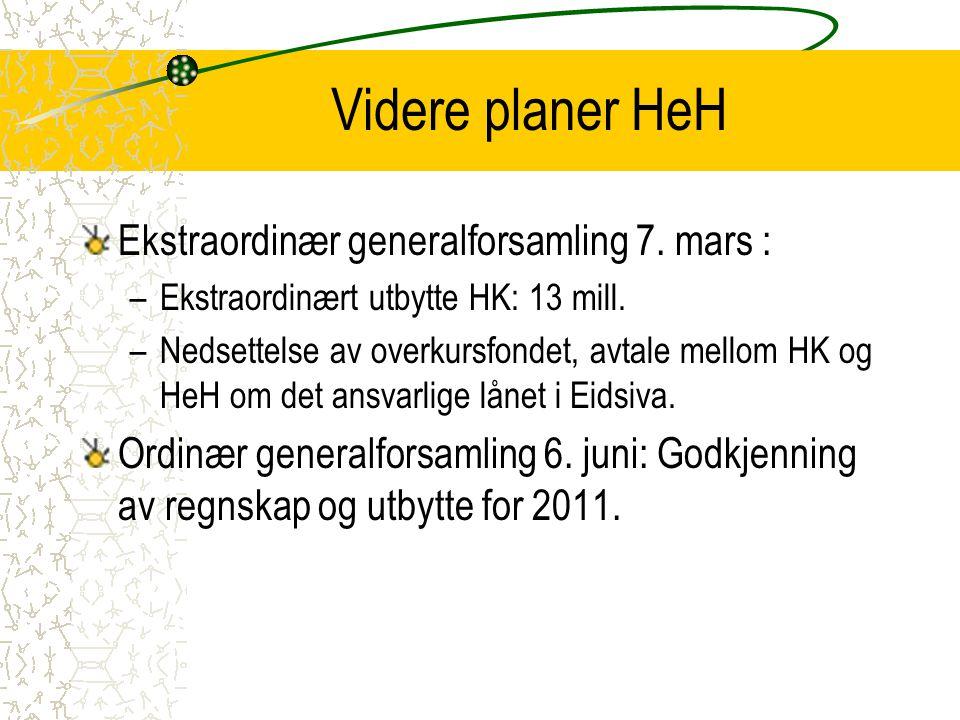 Videre planer HeH Ekstraordinær generalforsamling 7. mars :