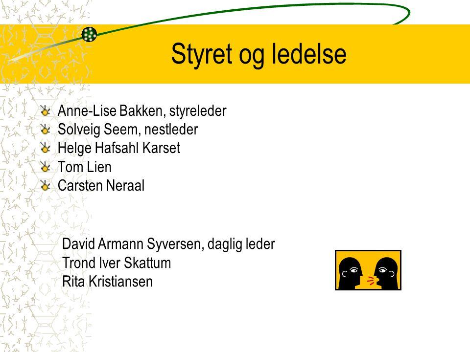 Styret og ledelse Anne-Lise Bakken, styreleder Solveig Seem, nestleder