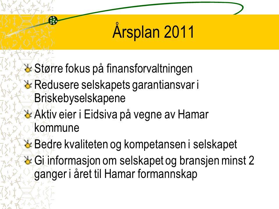 Årsplan 2011 Større fokus på finansforvaltningen