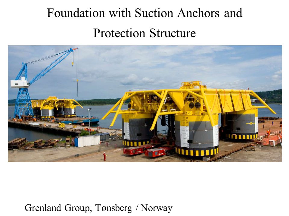 Foundation with Suction Anchors and Protection Structure