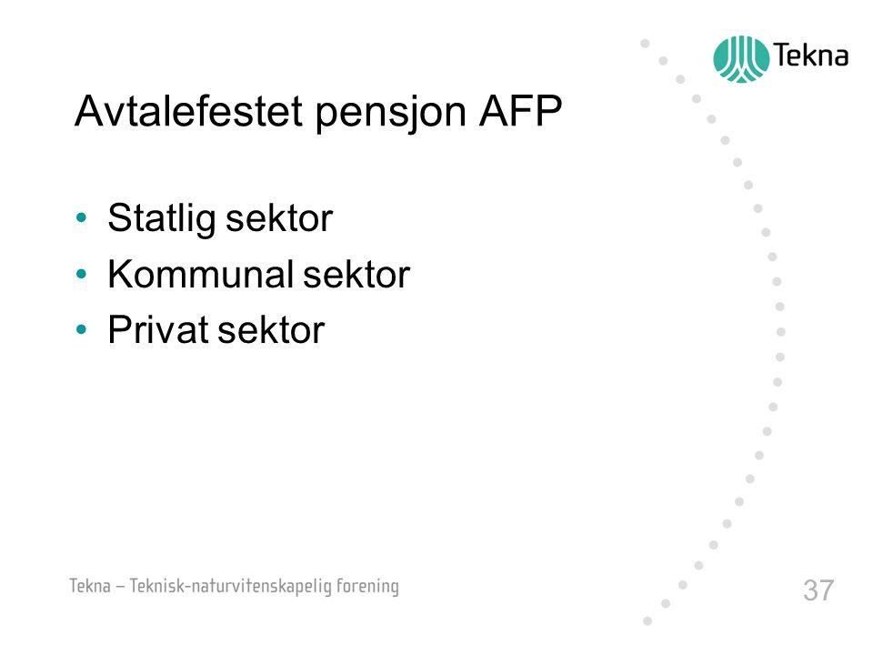Avtalefestet pensjon AFP